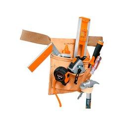 Porta Herramientas Truper Carnaza Cinturón 6 Compartimientos