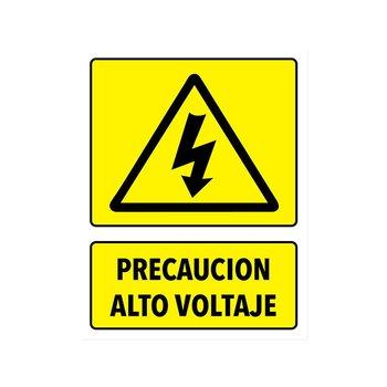 Señalamiento Precaución Alto Voltaje