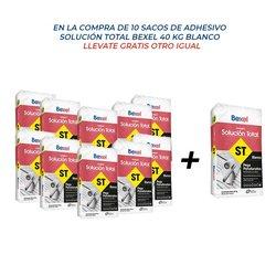 Paquete 10 + 1 Adhesivo Solución Total 40 kg Blanco