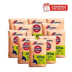 Paquete 10 Sacos de Cemento Cemex Gris Extra y Playera Cemex