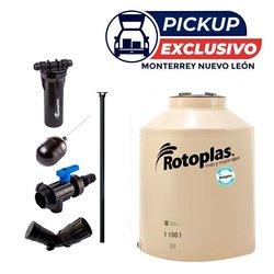 Tinaco Rotoplas Beige 1100 l (Rotolindro de regalo 1 lt)