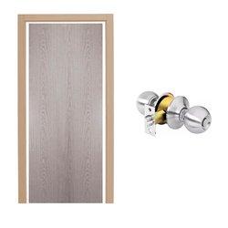Paquete Puerta Tambor 85 x 213 cm HDF-Roble Gris