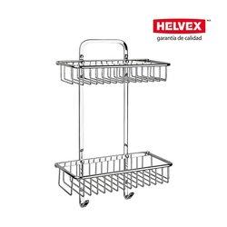 Repisa Doble Helvex Rectangular Rejilla REJ-04