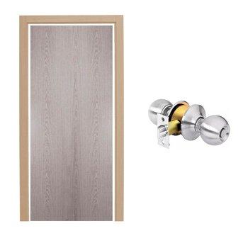 Paquete Puerta Tambor 90 x 213 cm HDF-Roble Gris