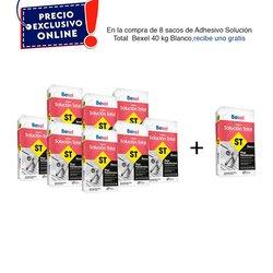 Paquete 8 + 1 Adhesivo Solución Total 40 kg Blanco