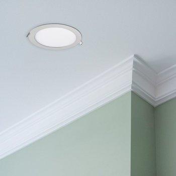 Luminario LED Empotrar, luz neutra, color blanco 6 W