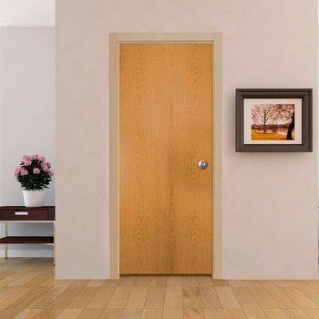 Paquete Puerta Tambor 80 x 213 cm HDF-Roble