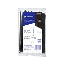 Cincho Plástico Volteck 20 cm Negro 100 pz
