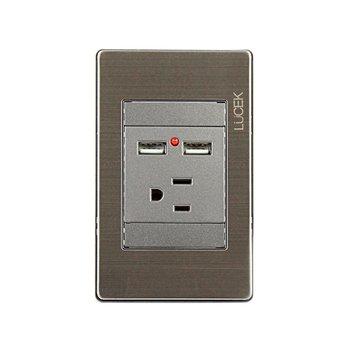 Placa USB Contacto Sencillo marca Lucek Modelo BP05-MA