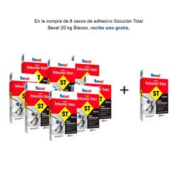 Paquete 8 + 1 Adhesivo Solución Total 20 kg Blanco