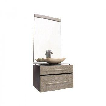 Gabinete de Baño Marruecos Negro/Plata