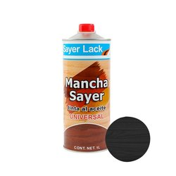 Tinta Aceite Mancha Sayer Lack Negro Mate 1 l