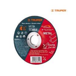 Disco Corte Metal Truper 4½ Alto Rendimiento