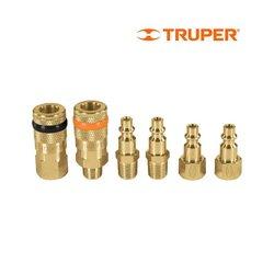 Cople Conector Latón 6 pz Truper