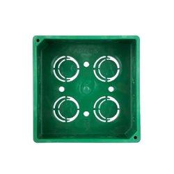 Caja Cuadrada PVC Verde 4 x 4 pulg
