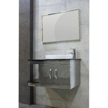 Gabinete de Baño Modena 80 cm Acero Inoxidable