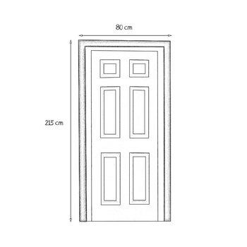 Paquete Puerta Tambor 80 x 213 cm HDF-Colonist