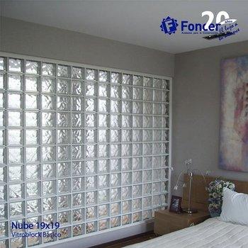 Vidrio Block Cloudy Fontibre 19 x 19 x 8 cm