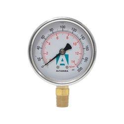 Manómetro Glicerina 0-200 psi ¼ Macho Altamira