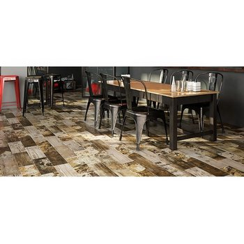 Piso Antique Wood Daltile 18 x 50 cm Ocre