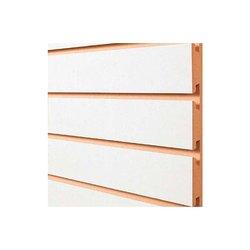 Panel Ranurado Blanco 18 mm 4 x 8 pies