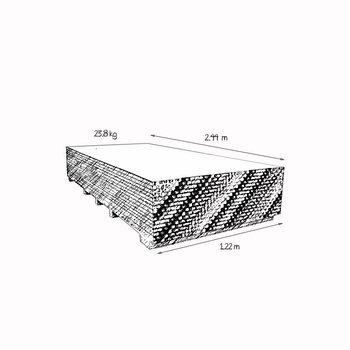 Panel Yeso Estándar 1.22 x 2.44 m 23.8 kg