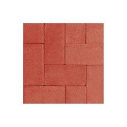 Adoquín Grand Holland Mextile 30 x 15 x 6 cm Rojo Rubí