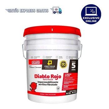Impermeabilizante Acrílico Fibratado Diablo Rojo Blanco 21.6 Lt
