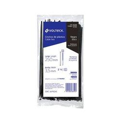Cincho Plástico Volteck 25 cm Negro 50 pz