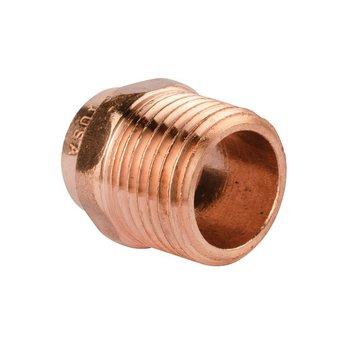 Conector Cobre Rosca Exterior 19 mm ¾