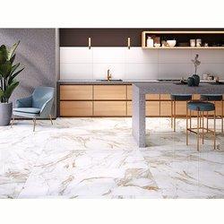 Piso porcelánico Carrara Gold Daltile 80x160cm rectif. White