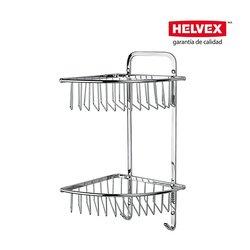 Repisa Esquinera Doble Rejilla Helvex REJ-05