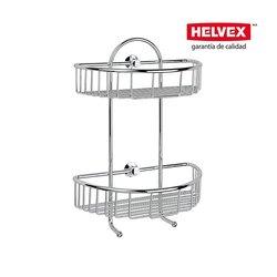 Repisa Semicircular Doble Helvex Rejilla REJ-03