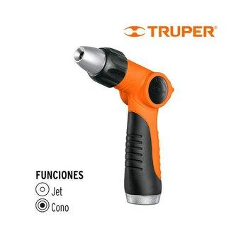 Pistola Plástica Gatillo Regulable Truper 2 Funciones