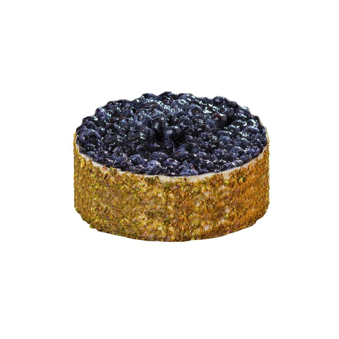 Petit pay de blueberrys con pistache
