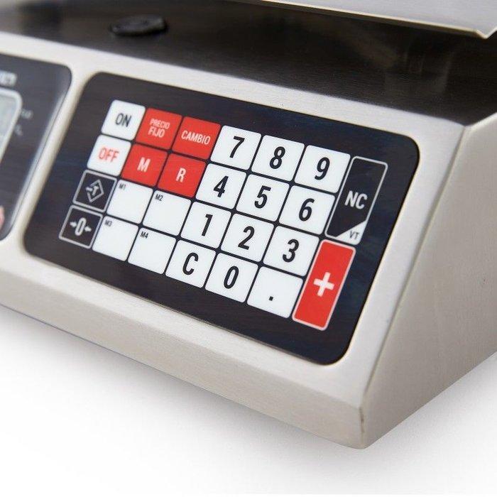 BÁSCULA ELECTRÓNICA ACERO INOXIDABLE TORREY L-PCR-40 TRI-RANGO