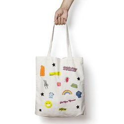 Tote bag Cool Patches