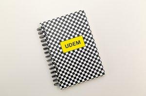 Cuaderno Checkers con Stickers. Velvet