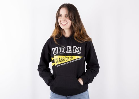 "Sudadera UDEM ""Class of 2021"" . Velvet"