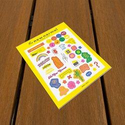 Plantilla de stickers. The New Normal