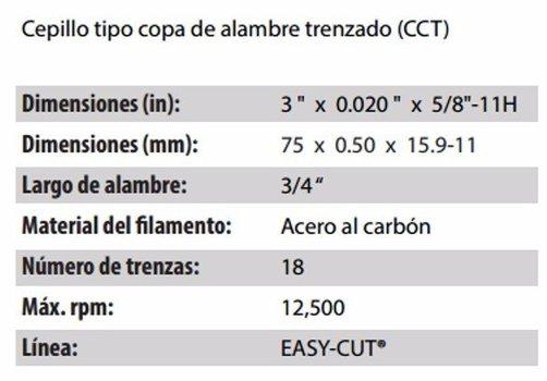 CEPILLO TIPO COPA CLAVE 2898