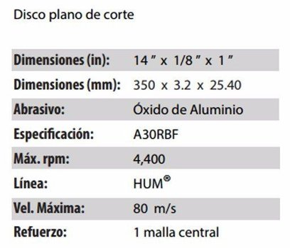 DISCO DE CORTE CLAVE 744