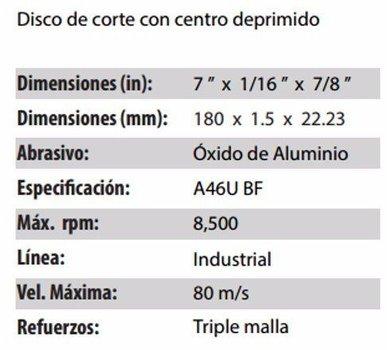 DISCO DE CORTE CLAVE 889