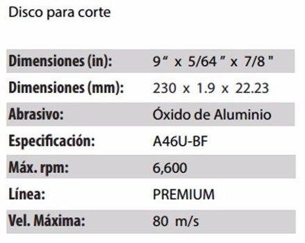 DISCO DE CORTE CLAVE 880