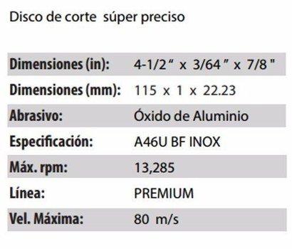 DISCO DE CORTE CLAVE 750