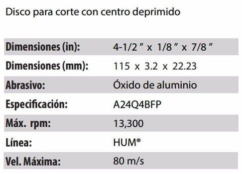 DISCO DE CORTE CLAVE 566