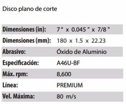 DISCO DE CORTE CLAVE 879