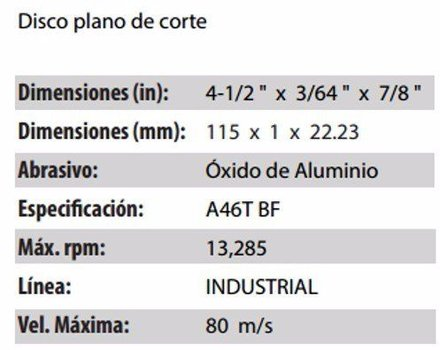 DISCO DE CORTE CLAVE 710