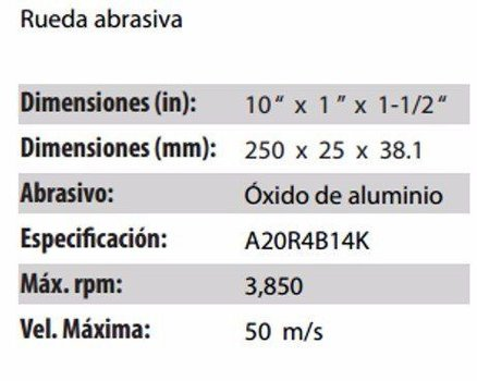 RUEDA RESINOSA CLAVE 280