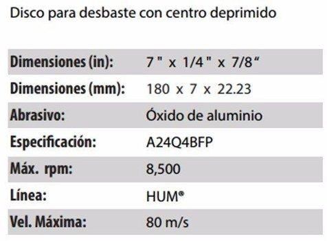 DISCO DE DESBASTE CLAVE 561